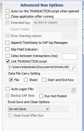 Additional tips for linking scripts – Winshuttle