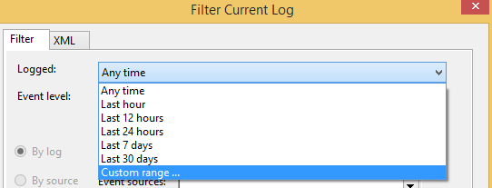 How to save Event Viewer logs – Winshuttle