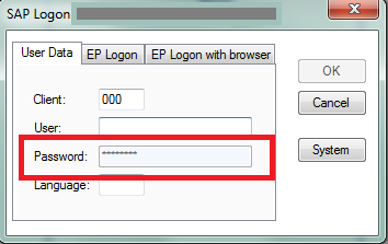 My SAP logon password field is grayed out – Winshuttle