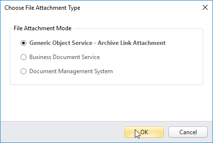 Defining attachment content type for GOS doc attachments